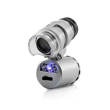 MICROSCOPIO MINI CON LED 60X