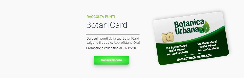 BotaniCard Tessera punti Botanica Urbana